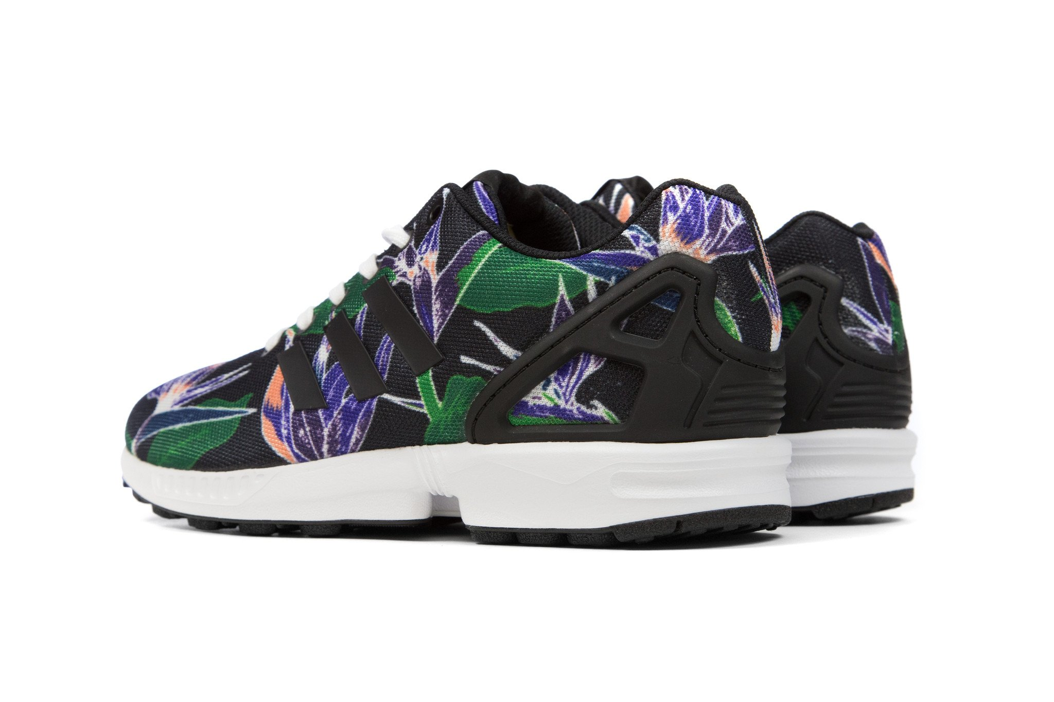 Adidas Floral Print   3m Sneakers   Zx Flux Floral