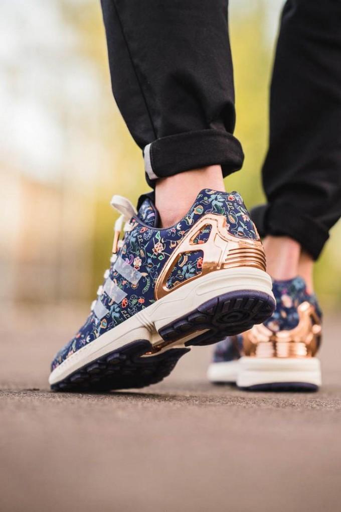 Adidas Zx Flux Women | Zx Flux Floral | Adidas Snakeskin Shoes