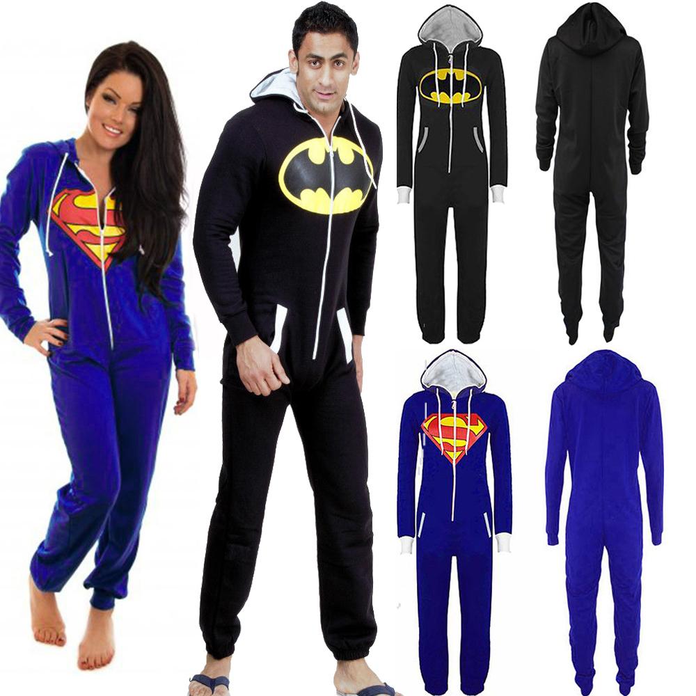 Adult Onesie Batman | Superman Onesie Pajamas for Adults | Batman Onesie