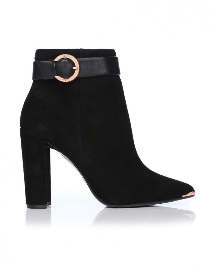 Ankle Boots Target | Flat Black Booties | Black Ankle Boots With Buckles
