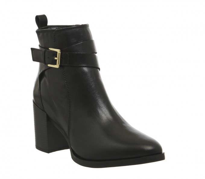 Ankle High Heel Boots | Burgundy Ankle Boots | Black Ankle Boots With Buckles