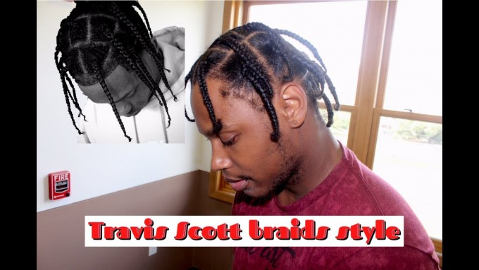 Asap Rocky Braids | How To Braid Your Own Hair Male | African Cornrows Styles