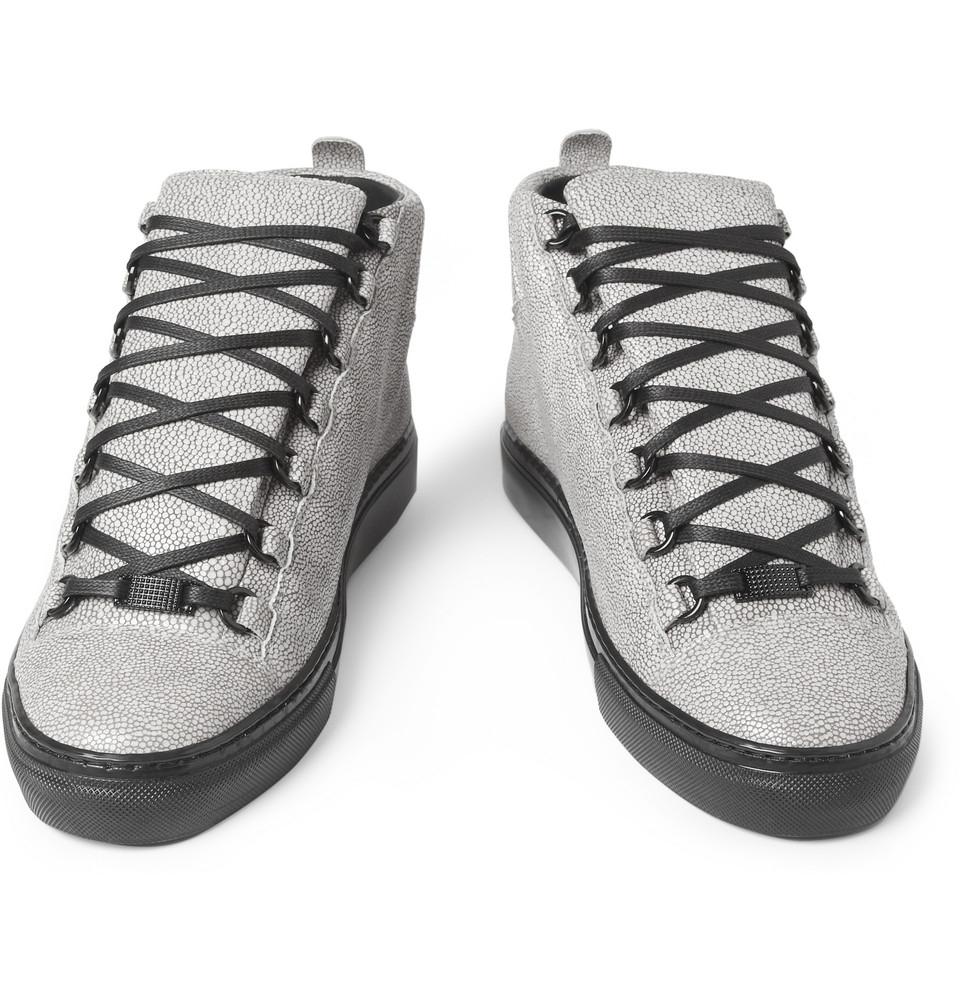 Balenciaga Arena Sneakers | Balenciagas Arena | Silver Sneakers Men