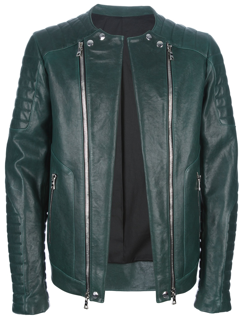 Balmain Biker Jeans Men | Leather Jacket Balmain | Balmain Leather Jacket