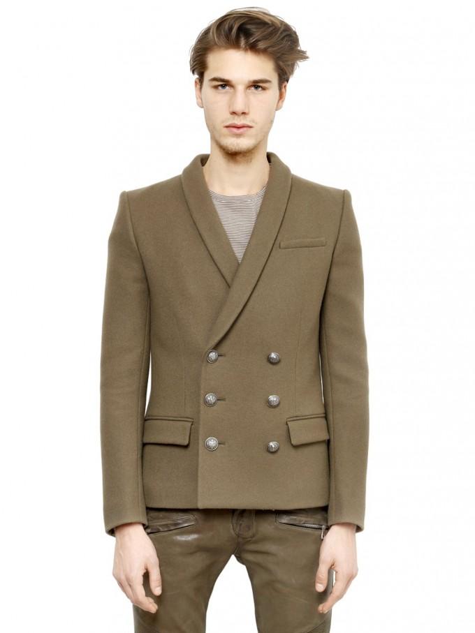 Balmain Double Breasted Blazer | Balmain Henley | Balmain Double Breasted Jacket