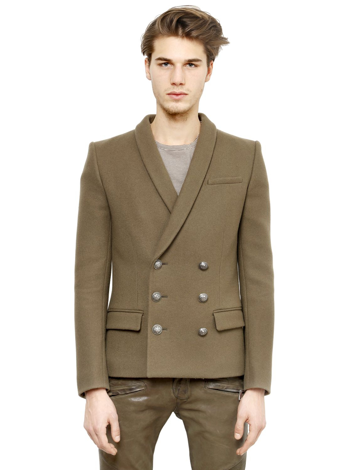 Balmain Double Breasted Blazer | Balmain Henley | Balmain Double Breasted Jacket