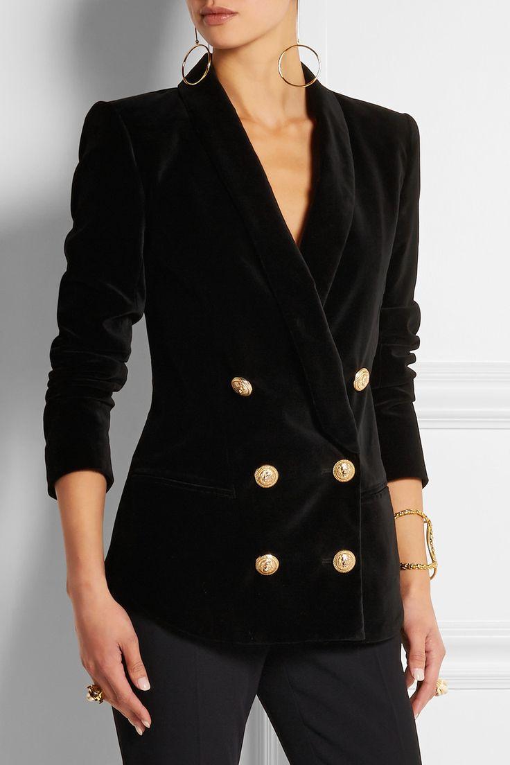 Balmain Double Breasted Blazer | Balmain Leather Blazer | Balmain Blazer Replica