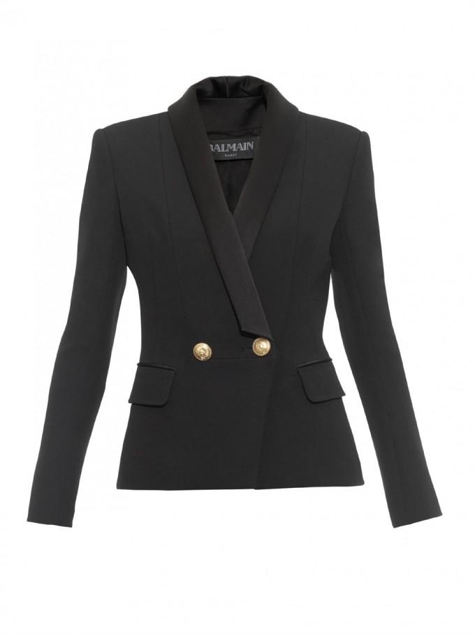 Balmain Double Breasted Blazer | Balmain Leather Jacket | Double Breasted Wool Blazer