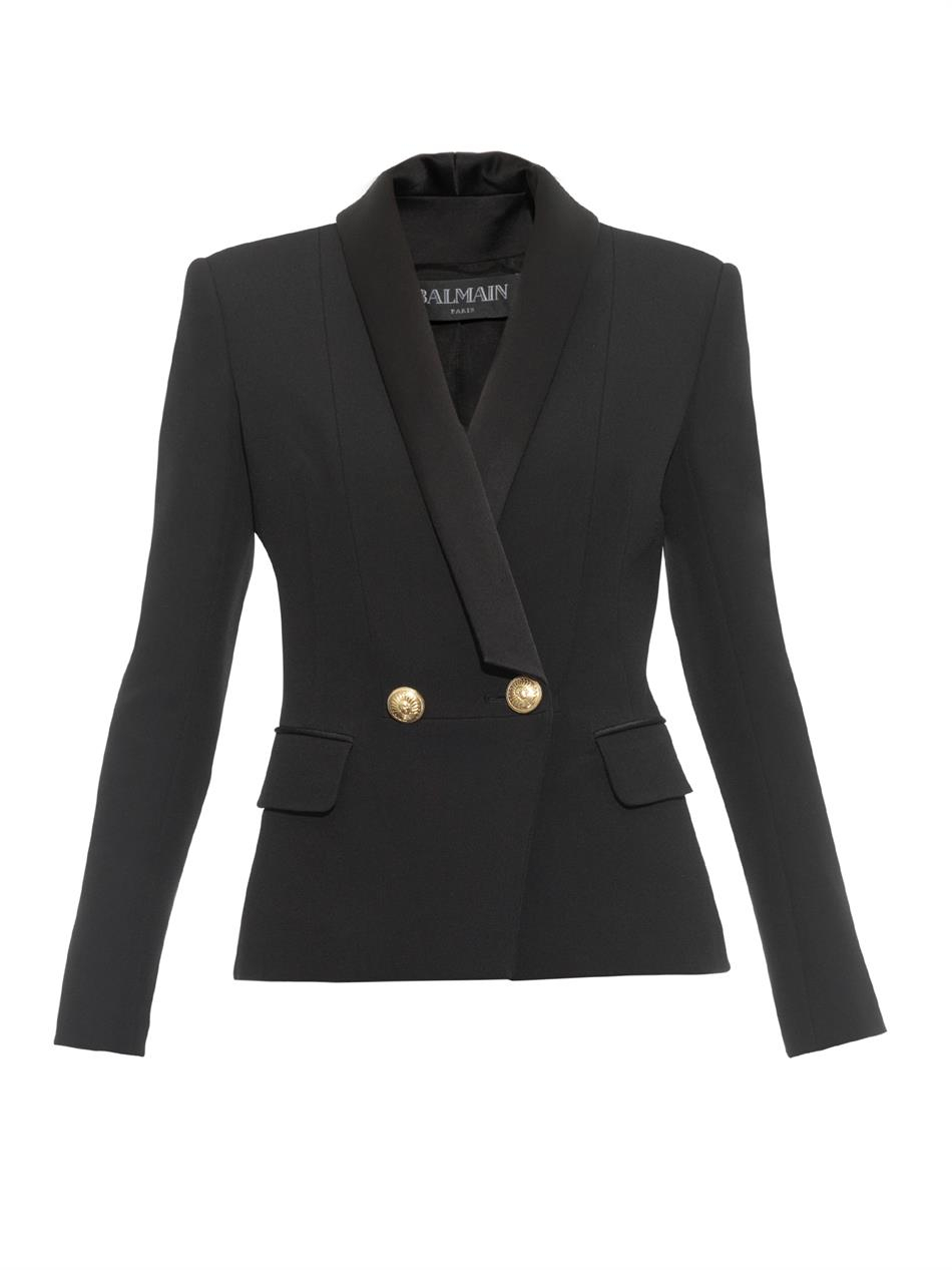 Balmain Double Breasted Blazer | Balmain Leather Jacket | Double Breasted Wool Blazer