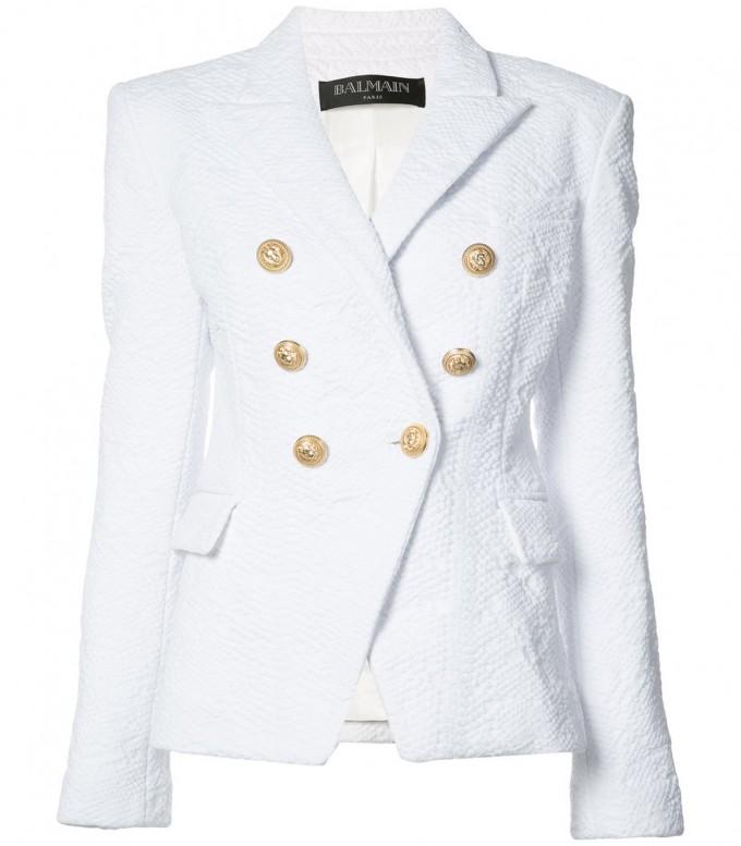 Balmain Double Breasted Blazer | Balmain Leather Jacket Womens | Balmain Winter Jacket