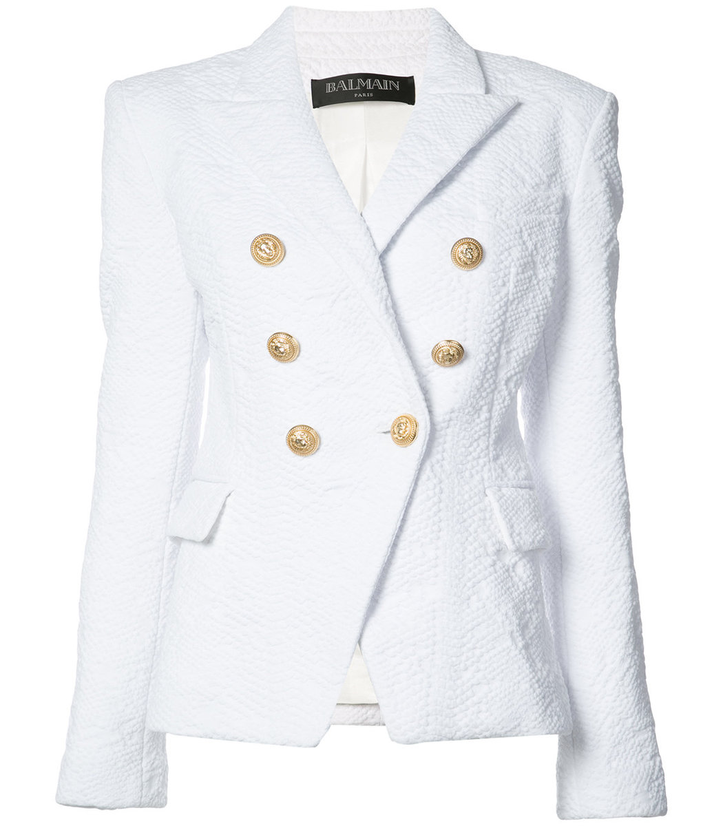Balmain Double Breasted Blazer | Balmain Leather Jacket Womens | Balmain Winter Jacket