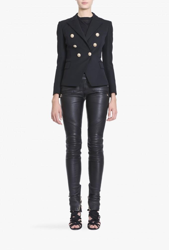 Balmain Double Breasted Blazer | Balmain Leather Jackets | Balmain Red Jacket