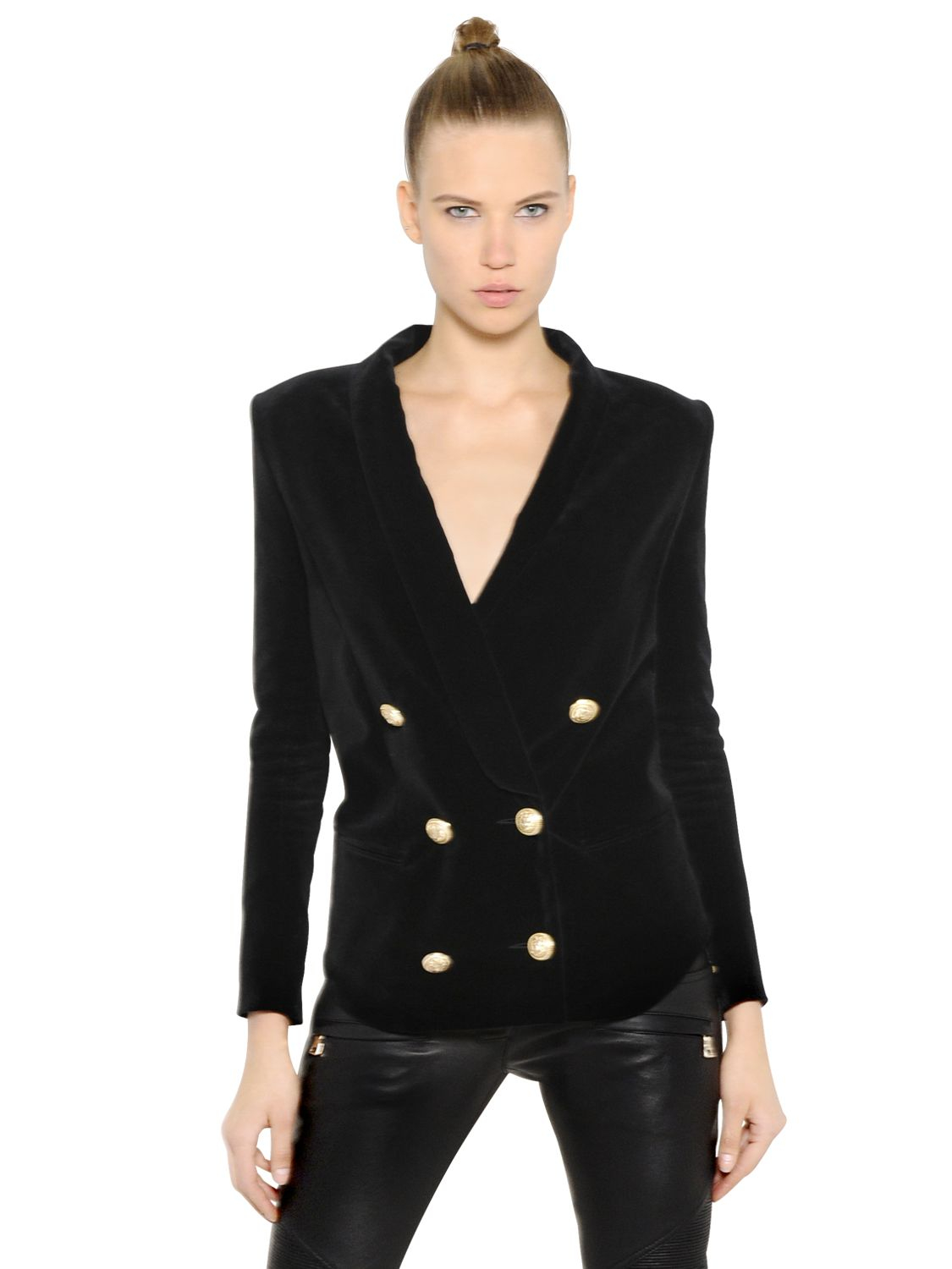 Balmain Double Breasted Blazer | Balmain Paris Leather Jacket | Double Breasted Blazer Women