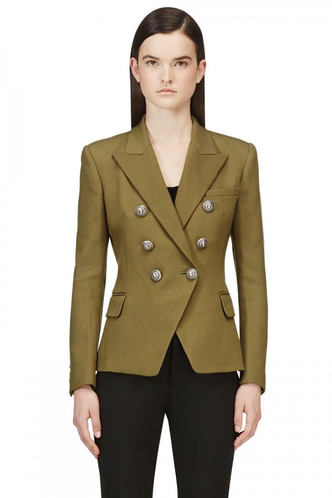 Balmain Double Breasted Blazer | Pierre Balmain Blazer | Double Breasted Jacket Womens