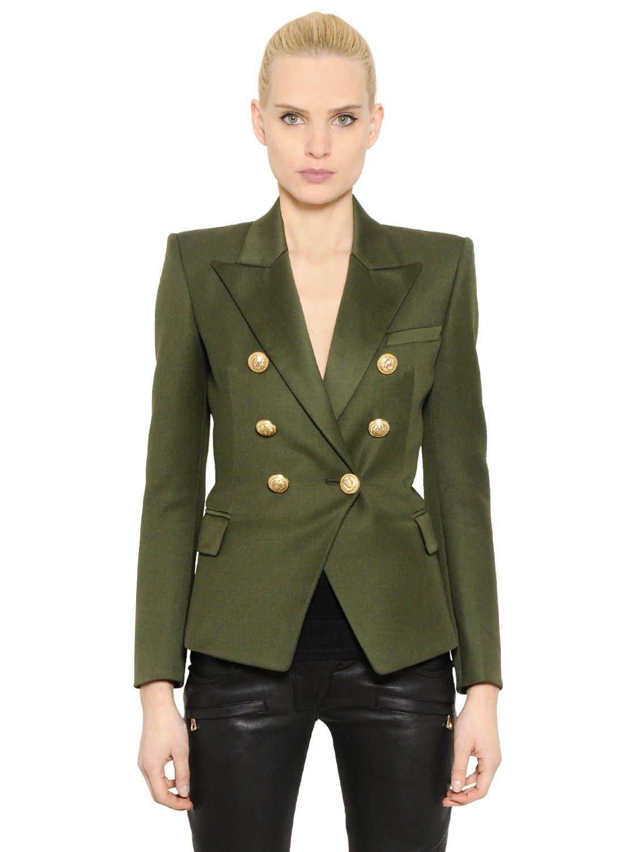 Balmain Double Breasted Blazer | Red Blazer Gold Buttons | Balmain Fur