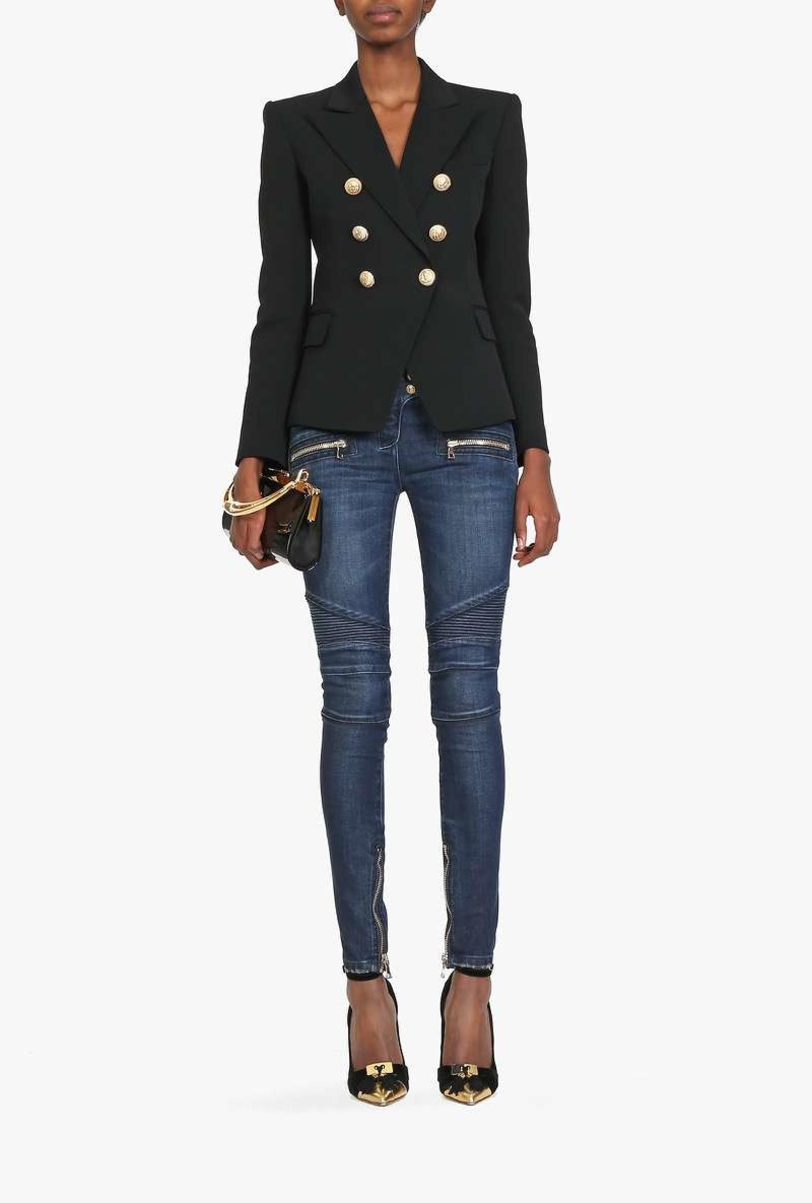 Balmain Jacket Women | Balmain Double Breasted Blazer | Balmain Size Chart