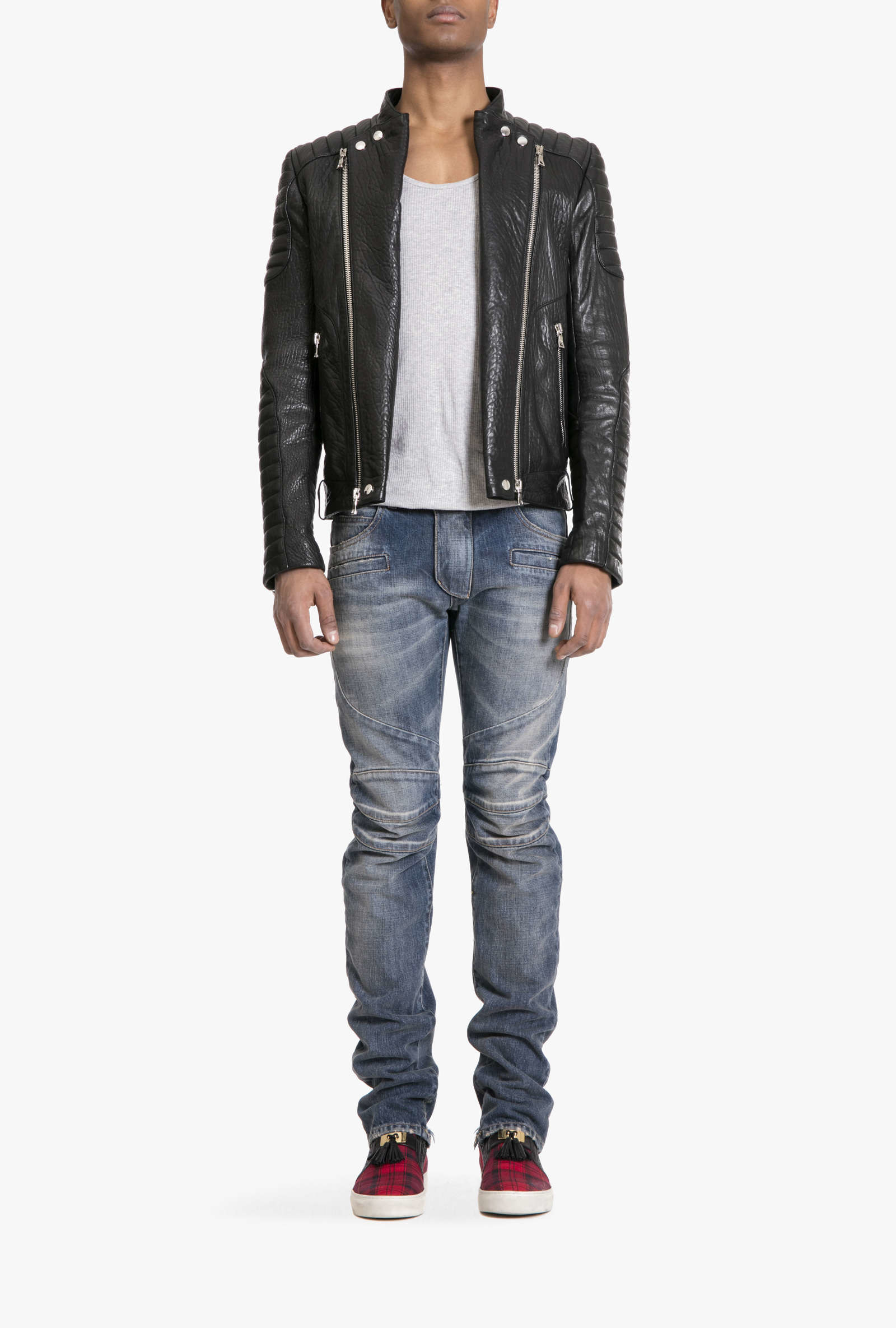 Balmain Leather Jacket | Balmain Sandals | Balmain Leather Jacket Men