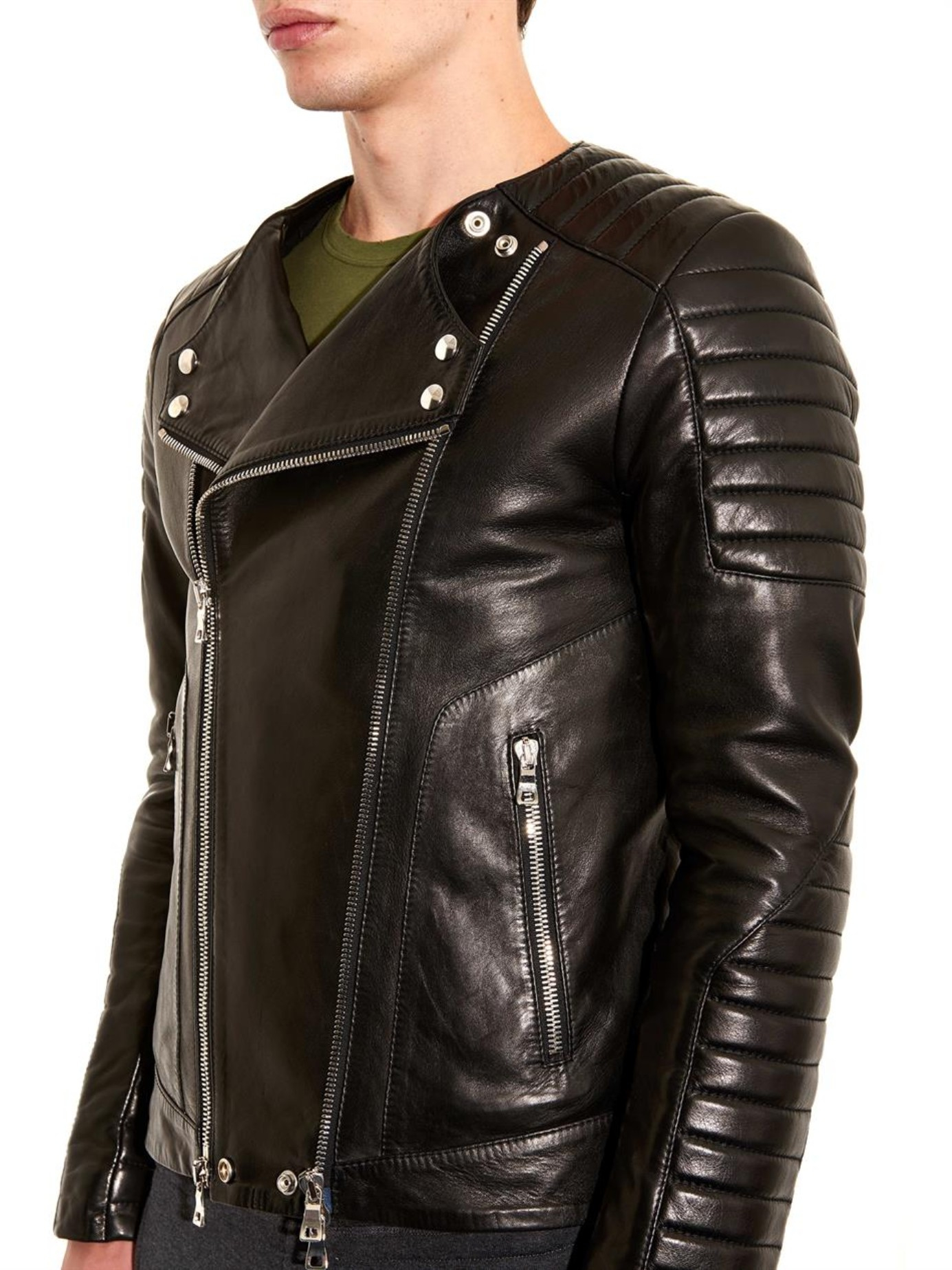 Balmain Leather Jacket | Balmain Style Leather Jacket | Balmain Paris Jeans
