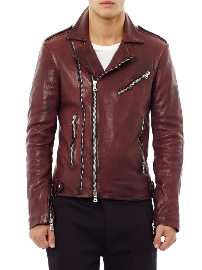 Balmain Men Leather Jacket | Balmain Leather Jacket | White Balmain Jeans