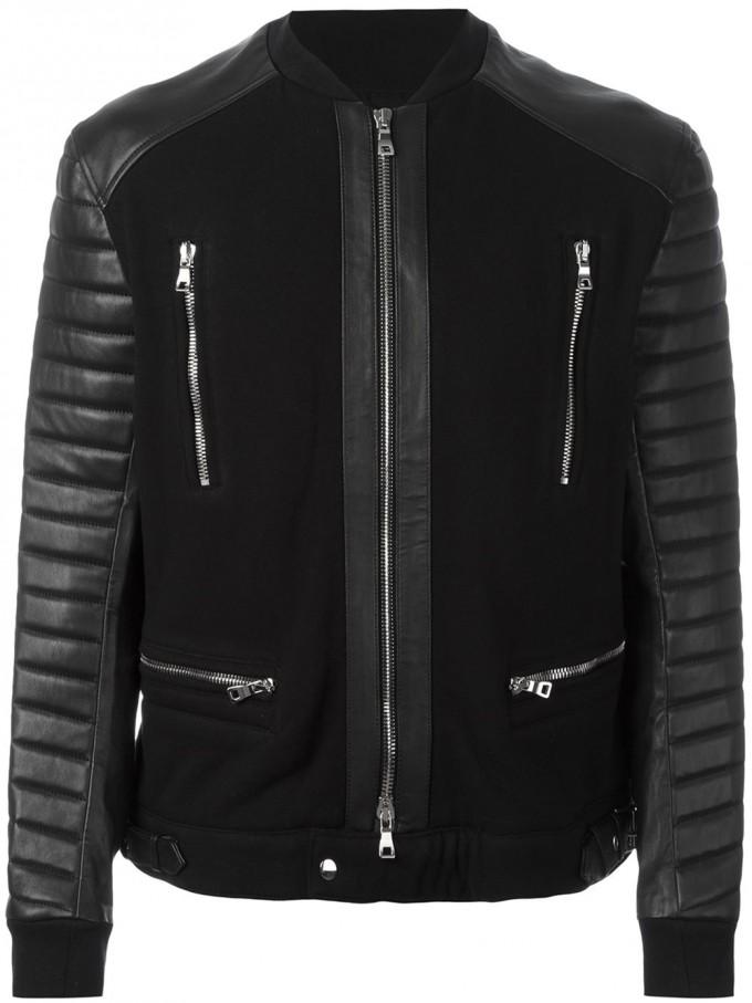 Balmain Outfit | Mens Balmain Leather Jacket | Balmain Leather Jacket