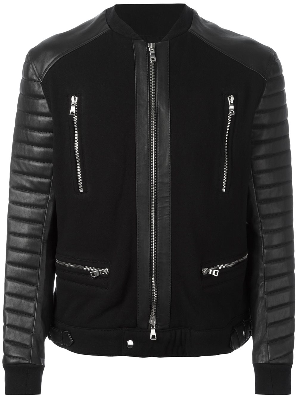 Balmain Outfit | Mens Balmain Leather Jacket | Balmain Leather Jacket