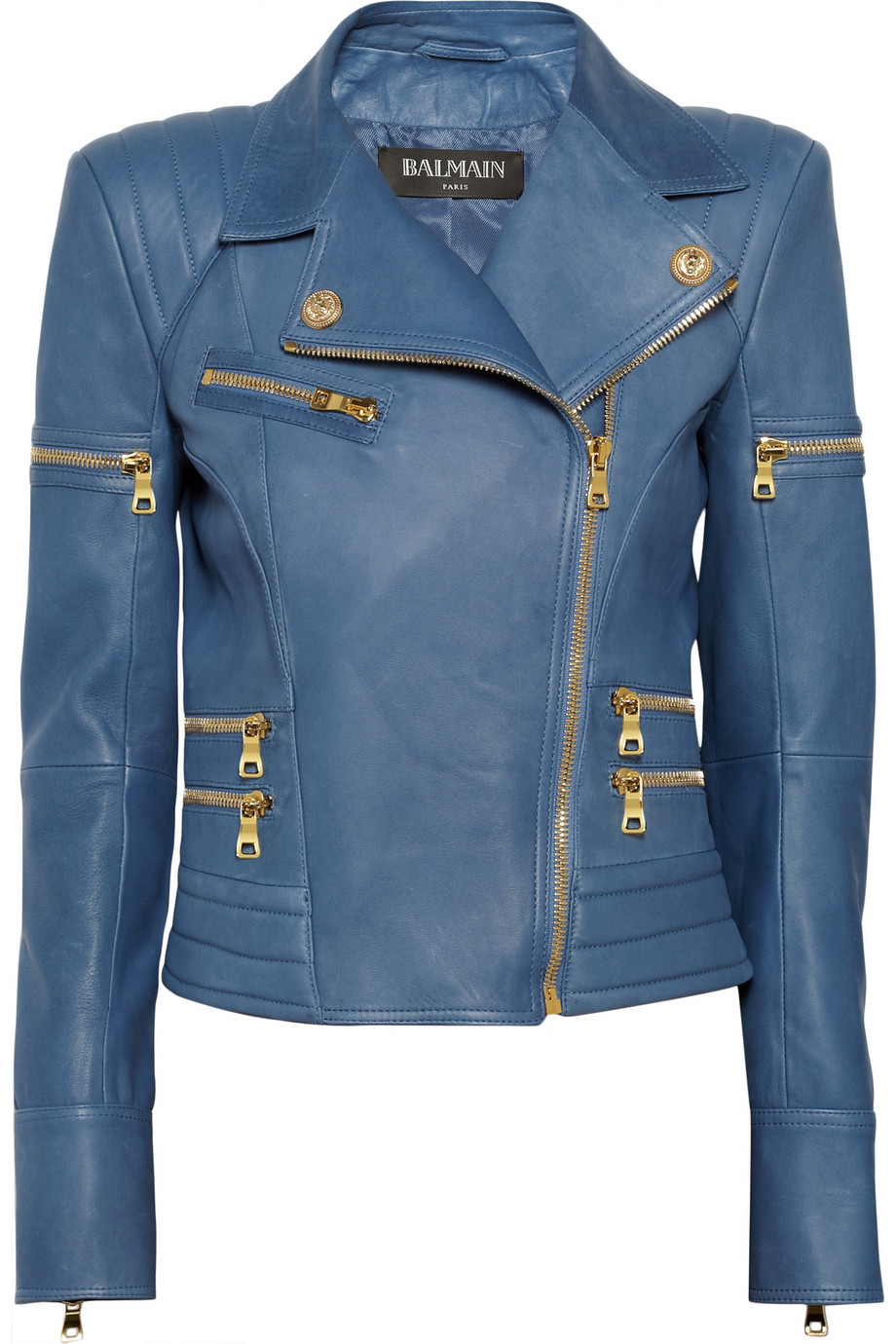 Balmain Paris Leather Jacket | Balmain Mens Clothing | Balmain Leather Jacket