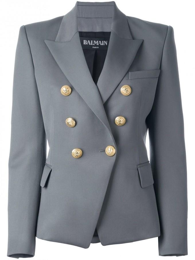 Balmain Shopping | Balmain Double Breasted Blazer | Balmain Leather Dress