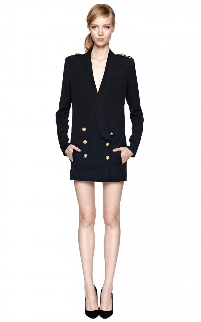 Balmain Skirt | Balmain Double Breasted Blazer | Pierre Balmain Blazer