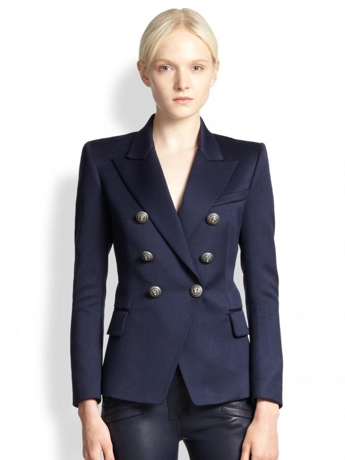 Balmain Winter Jacket | Balmain Navy Blazer | Balmain Double Breasted Blazer