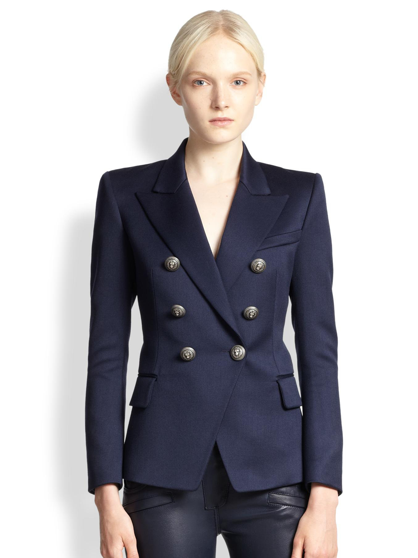 Balmain Winter Jacket | Balmain Navy Blazer | Balmain Double Breasted Blazer