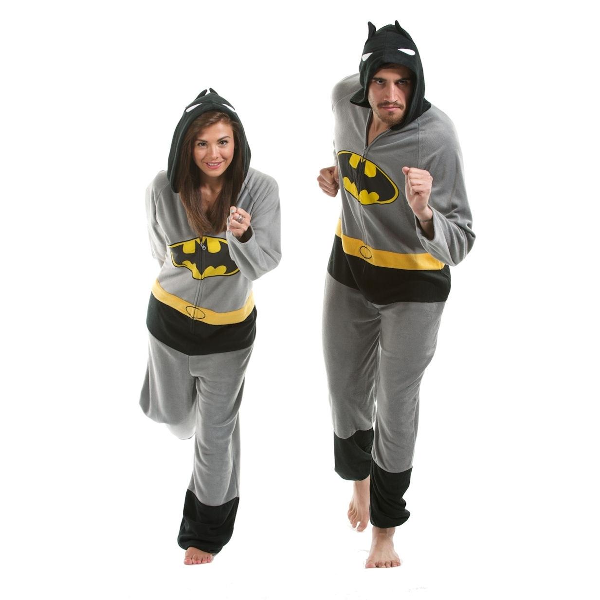 Batman Onesie | Footie Pajamas Batman | Batman Onesies for Adults