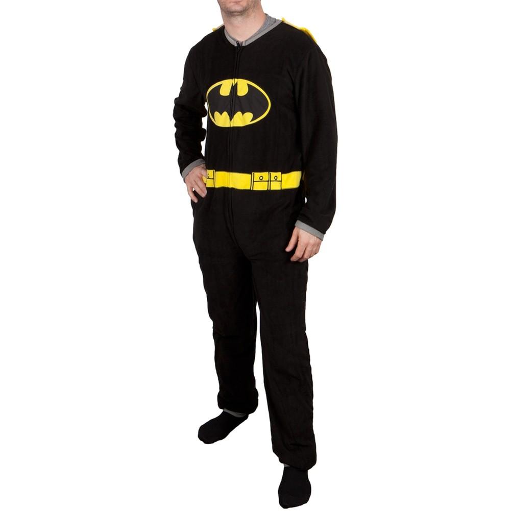 Batman Onesie | Mens Batman Footed Pajamas | Batman Onesie Pajamas