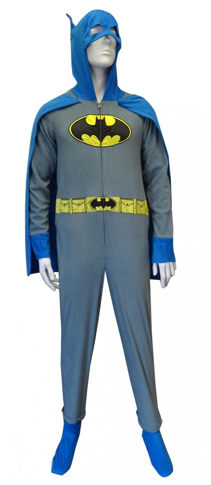 Batman Pajamas Adult | Batman Onesie | Batman Onesie With Hood