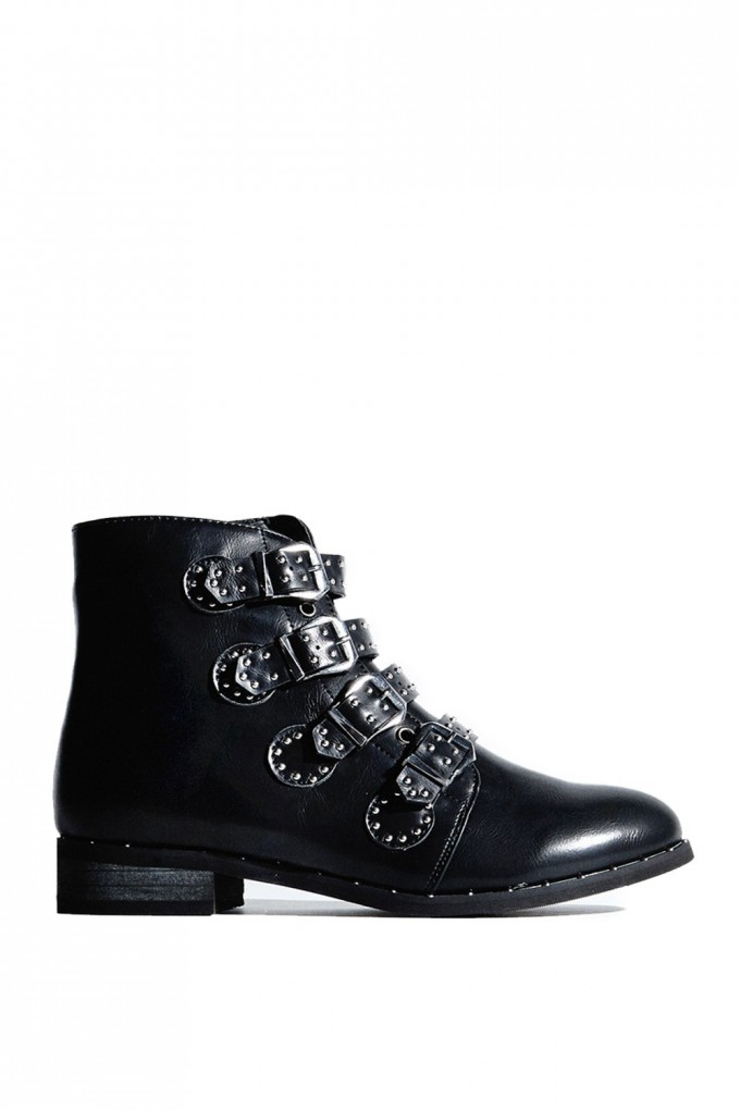 Black Ankle Boots With Buckles | Ankle Cowgirl Boots | Kohls Ladies Boots