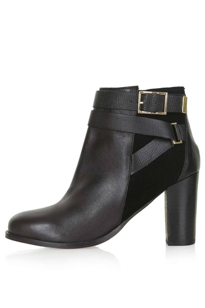 Black Ankle Boots With Buckles | Kohls Candies Boots | Heeled Booties