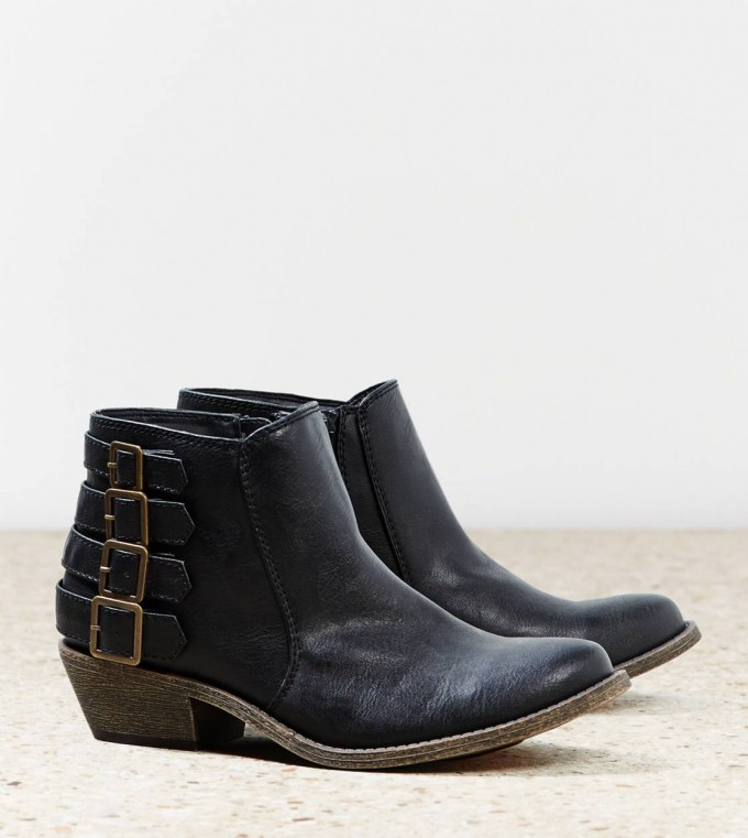 Black Ankle Boots With Buckles | Kohls Ladies Boots | Kohls Booties