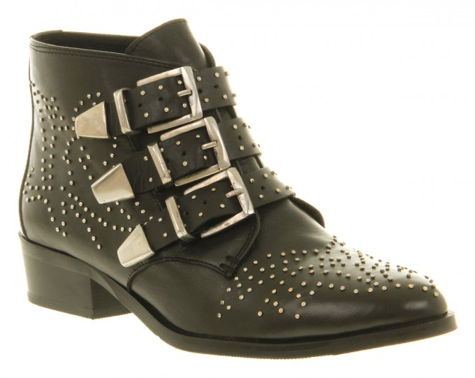 Black Ankle Boots With Buckles | Transparent Heel Boots | Womens Duck Boots Target