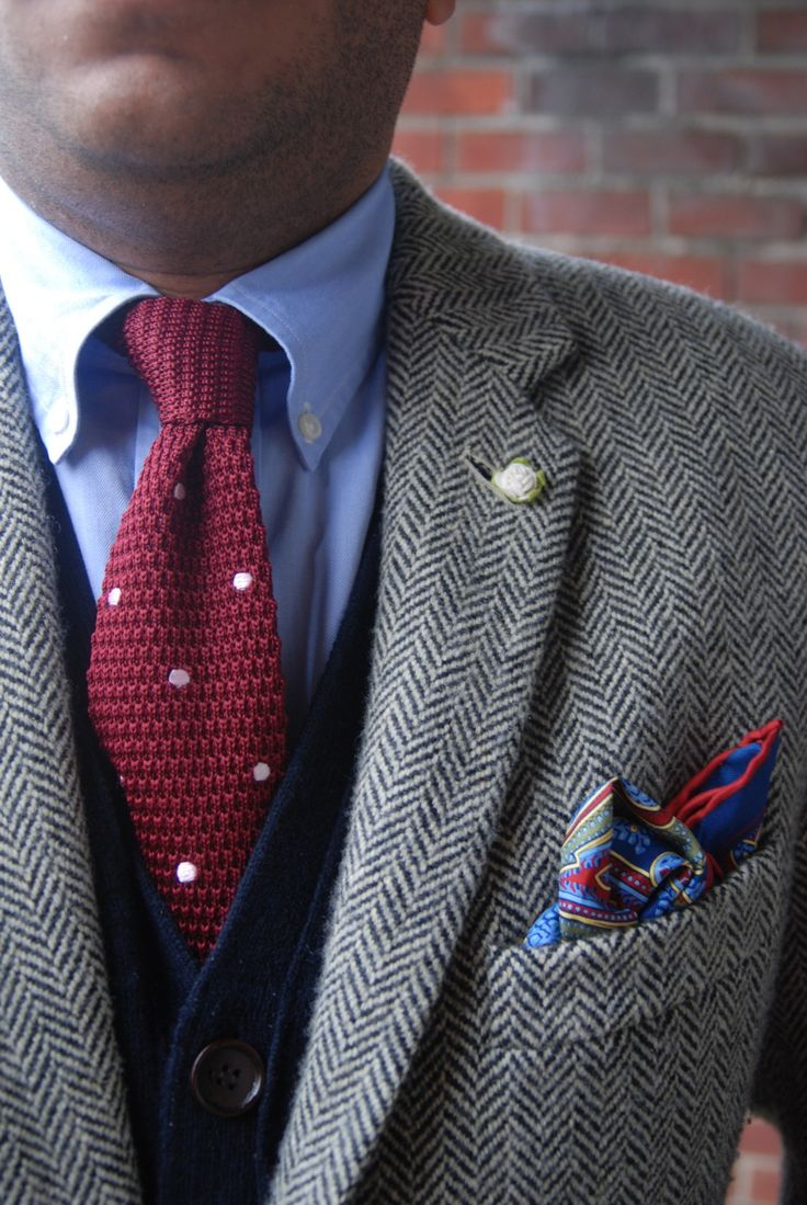 Black Knit Tie | Knit Ties | Mustard Knitted Tie