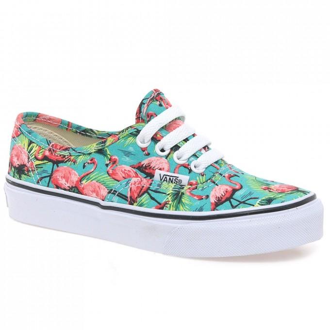 Blue Hawaiian Vans | Vans Shoes Guys | Flamingo Vans