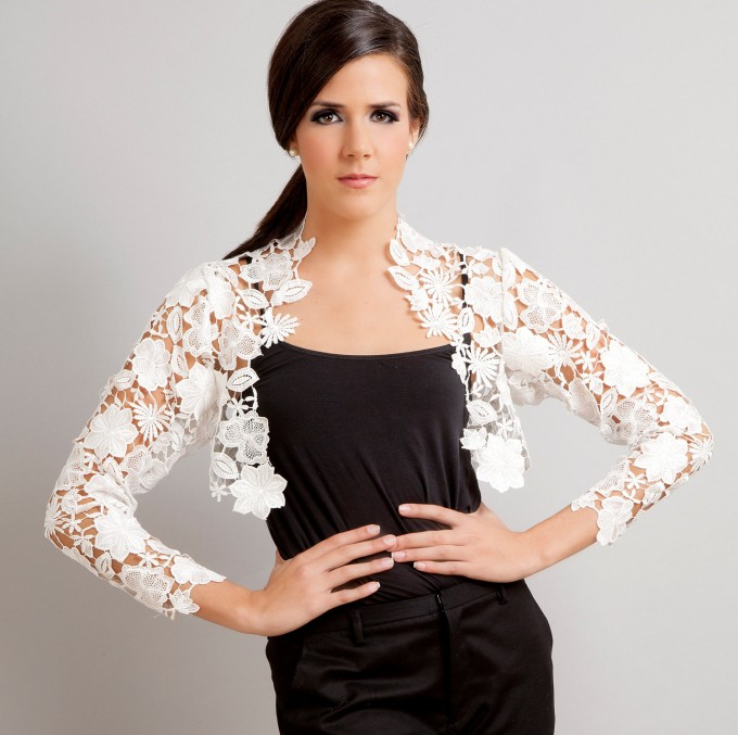 Bolero Cardigan | Dress Cover Up Sweater | Lace Shrug