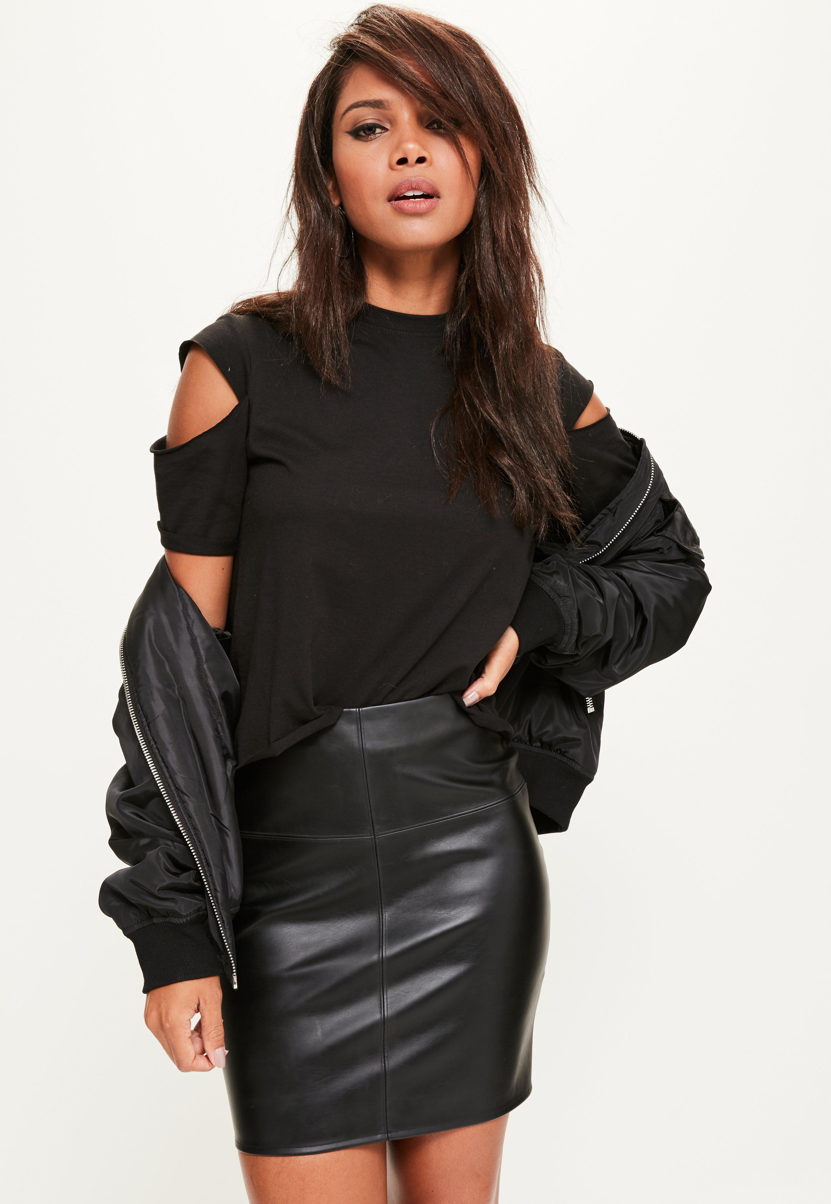 Bordeaux Leather Skirt | Faux Leather Skirt Plus Size | Faux Leather Skirt