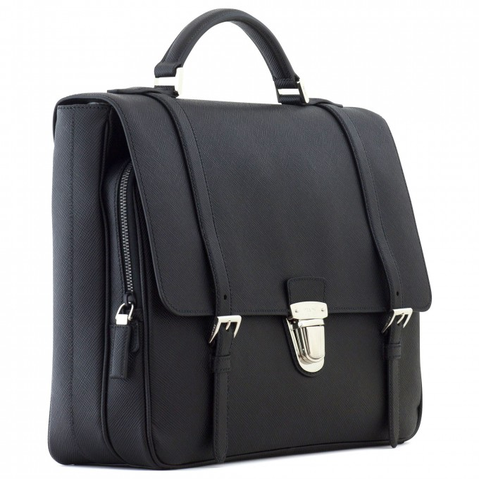 Briefcase With Shoulder Strap | Prada Briefcase | Prada Card Holder Men