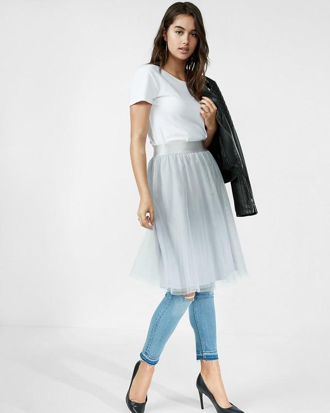 Burgundy Midi Skirt | What To Wear With Tulle Skirt | Tulle Midi Skirt
