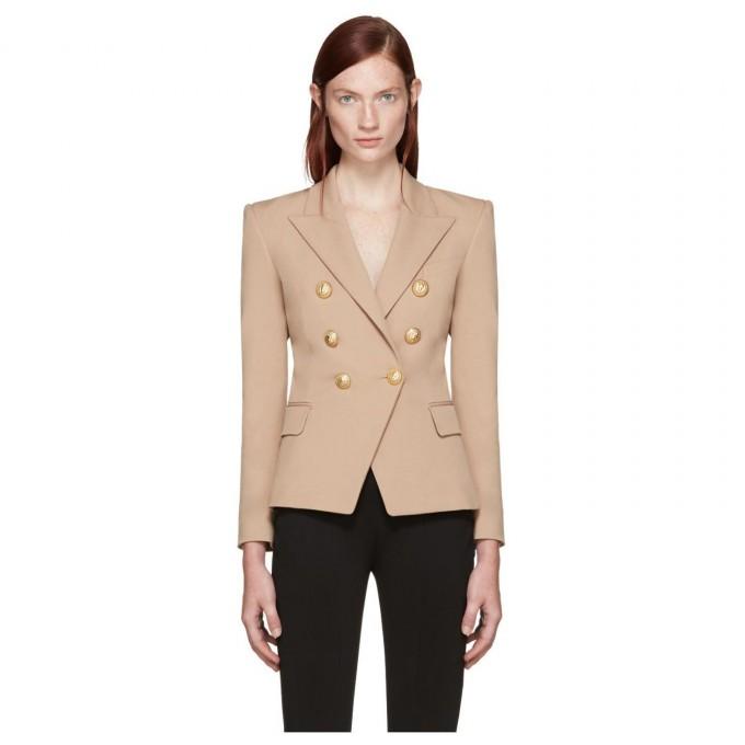 Buy Balmain | Balmain Double Breasted Blazer | Balmain Fur Jacket