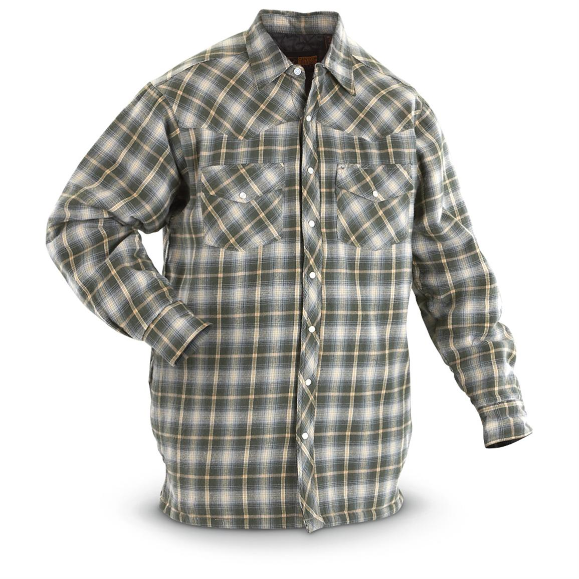 Chamois Shirts | Quilted Flannel Shirt | Lined Flannel Shirt Jacket