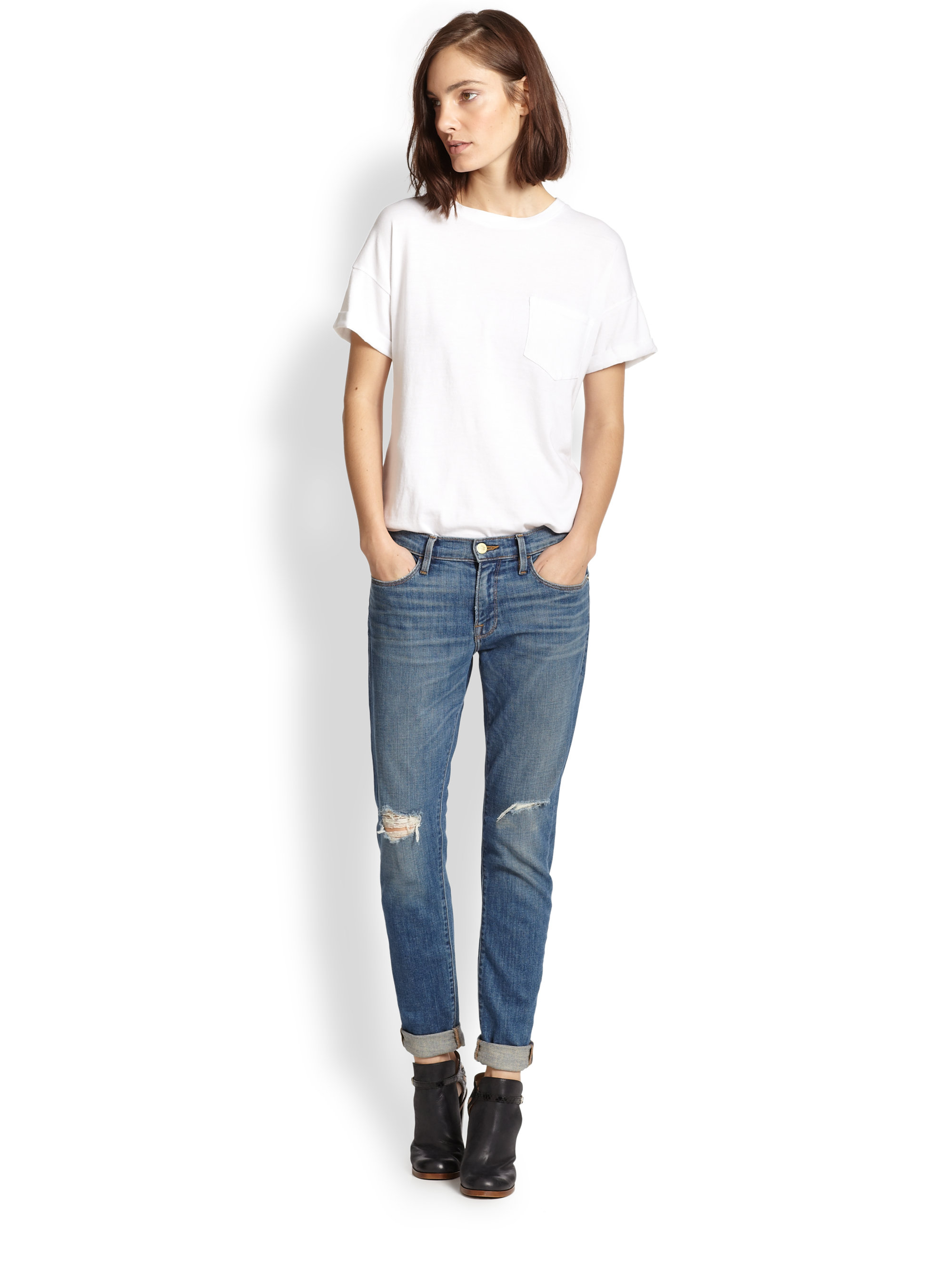 Charming Frame Denim Le Skinny | Sophisticated Frame Denim Le Garcon