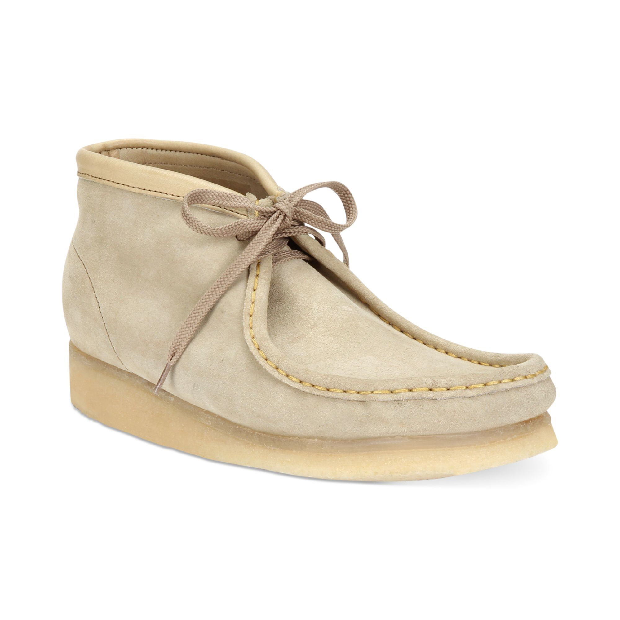 Clarks Wallabees Men   Unstructured Shoes   Red Clarks Wallabees