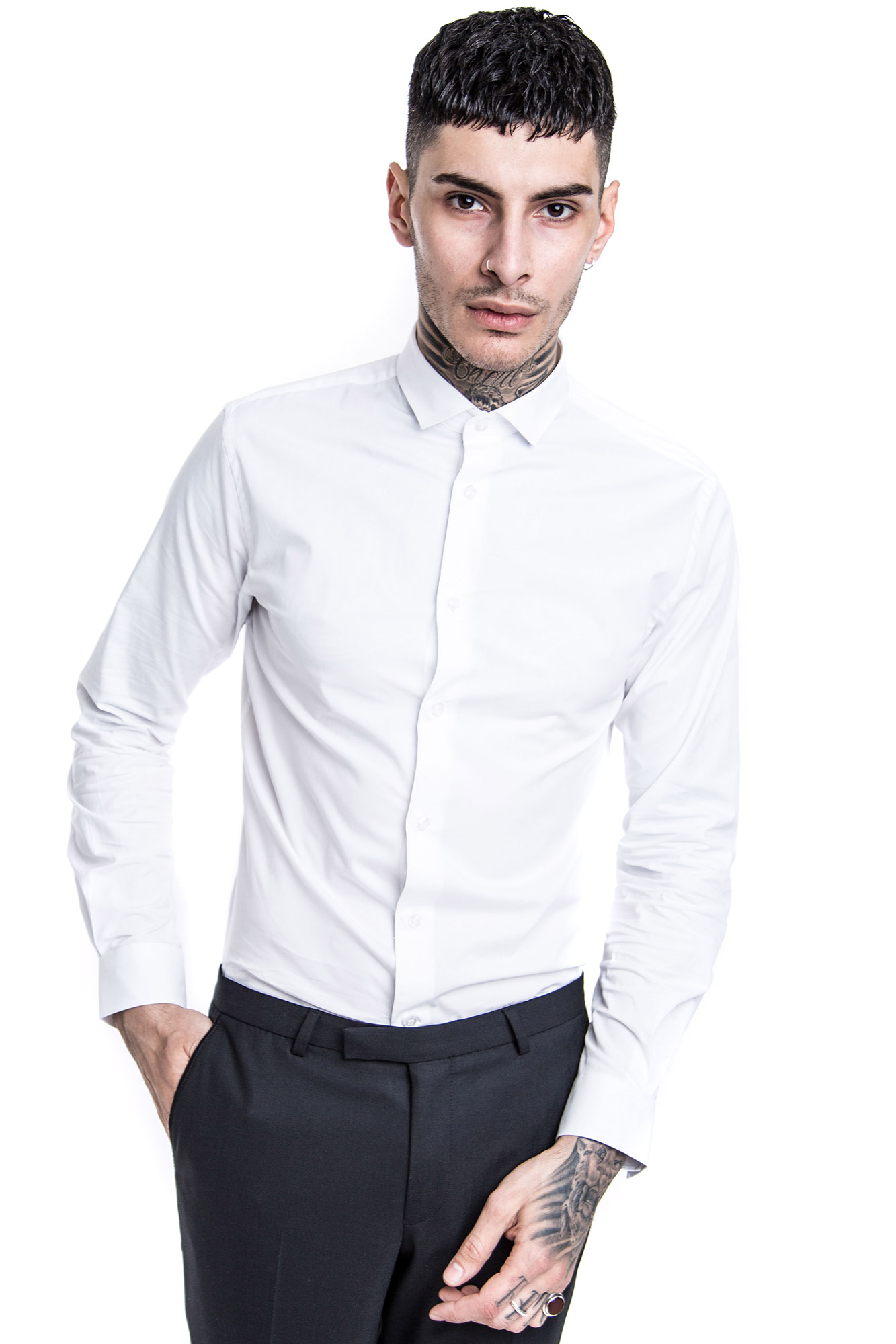 Cutaway Collar | Modena Dress Shirts | Cut Away Collar