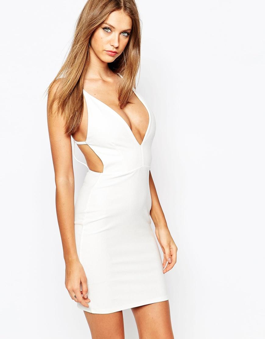 Deep Plunge Neckline Dress | Plunging Neckline Dress | V Neck Prom Dress