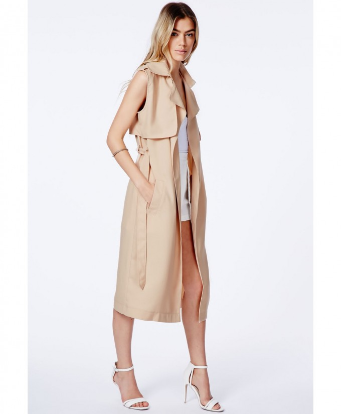 Denim Duster | Sleeveless Trench Coat | Olive Trench